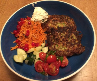 Courgete and feta pancakes